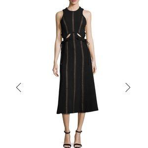 Self-Portrait sleeveless cut out midi dress NWT
